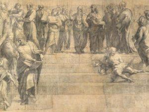 Cartone preparatorio Scuola di Atene - Raffaello