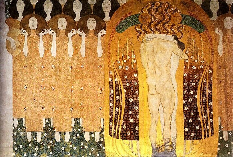 gustav Klimt fregio